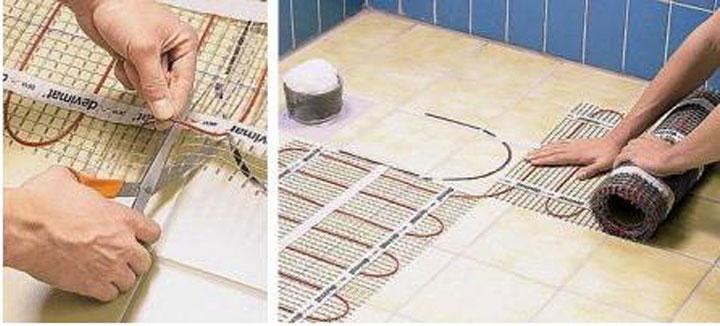 Укладка кабельных систем с использованием напольного мата