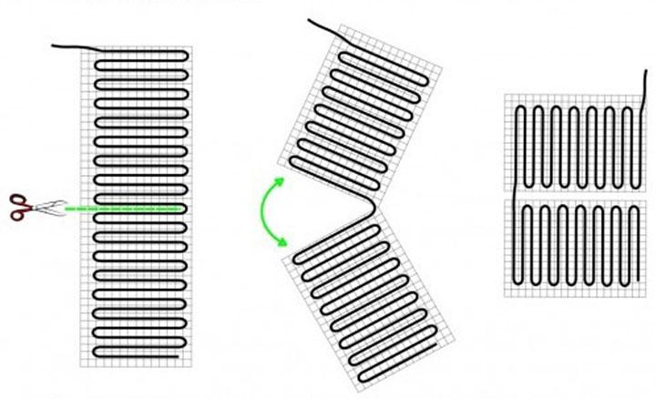 схема разделения инфракрасных матов