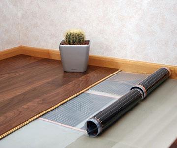 теплый пол на деревянной основе под ламинат