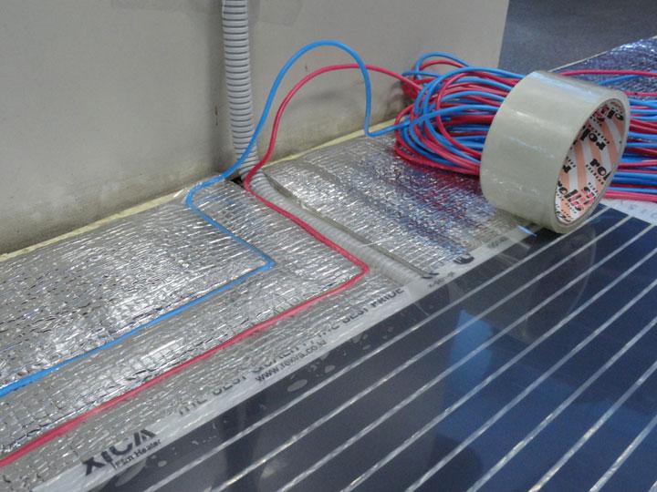 Пример схемы подлючения электрического кабельного пола