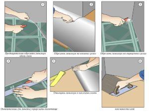 Рекомендации по укладыванию линолеума на плитку