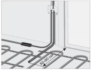 схема расположения отверстия под термодатчик