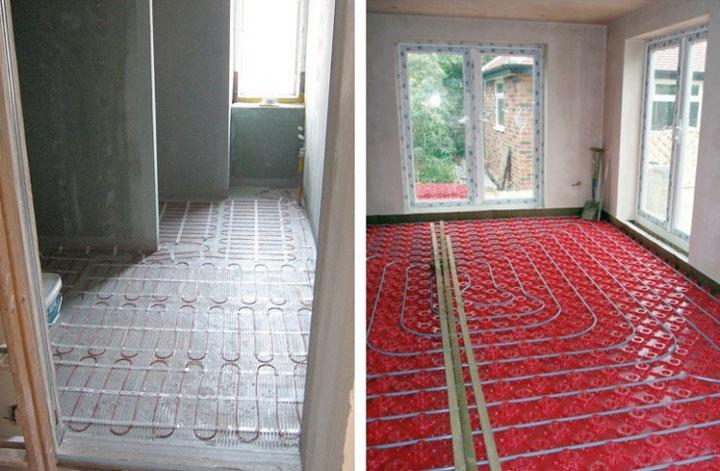 Монтаж теплого электрического пола в частном доме