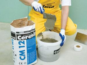 Как приготовить цементный раствор для плитки