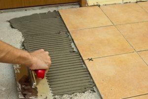 Технология укладки керамической плитки на цементный раствор